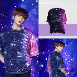 [FILA X BTS] Loose Fit Tie Dye Short Sleeve