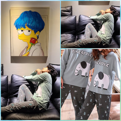 [OFFICIAL] BTS V's Elephant - Pineapple Pajama Set