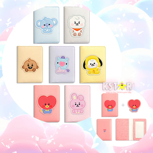 [LINE X BT21] Baby Leather Patch Card Case