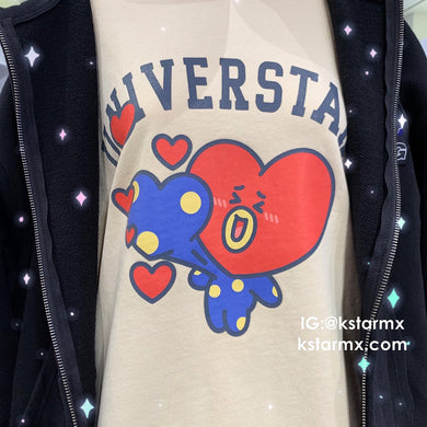 [LINE X BT21] Sweatshirt Heart Version