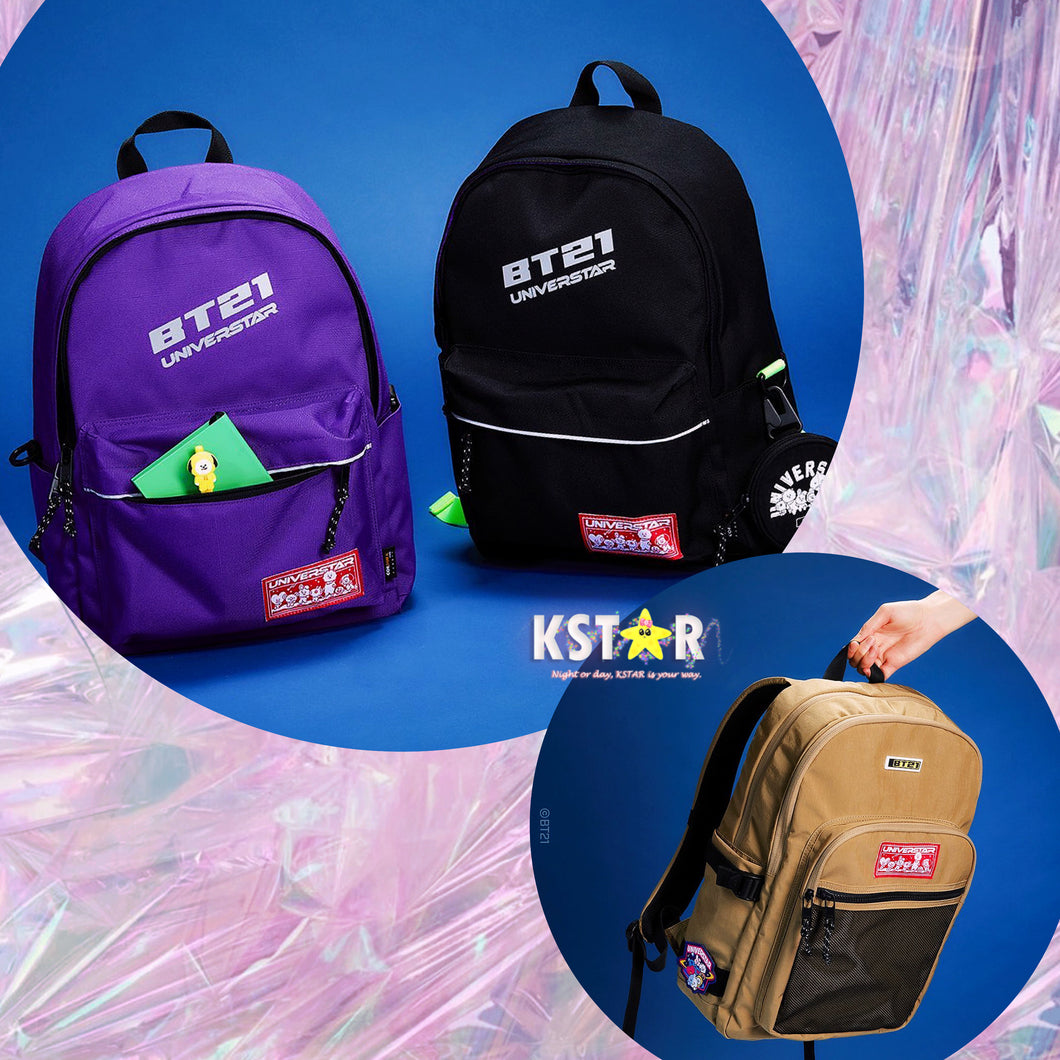 [LINE X BT21] Space Wappen Backpack