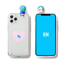 [BIG HIT] CHARACTER Figure Clear Jelly Case Heart Version (iPhone and Samsung)