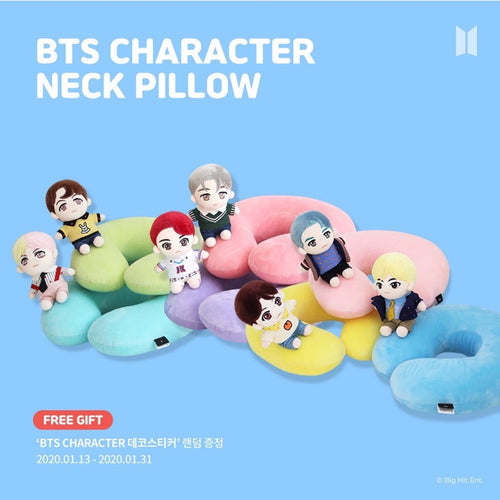 [NARA HOME X BTS] Character Neck Pillow