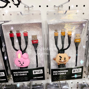 [LINE X BT21] Multi Charge 3 in 1 Cable