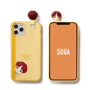 [BIG HIT] CHARACTER Figure Color Jelly Case Bbakkom Version (for iPhone and Samsung)