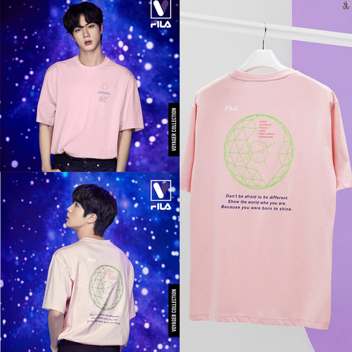 [FILA X BTS] Loose-fit Graphic Short Sleeve Tee