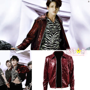 Jungkook's Style Sequin Fake Love Jacket