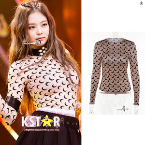Jennie's Style Moon Long Sleeve Tee