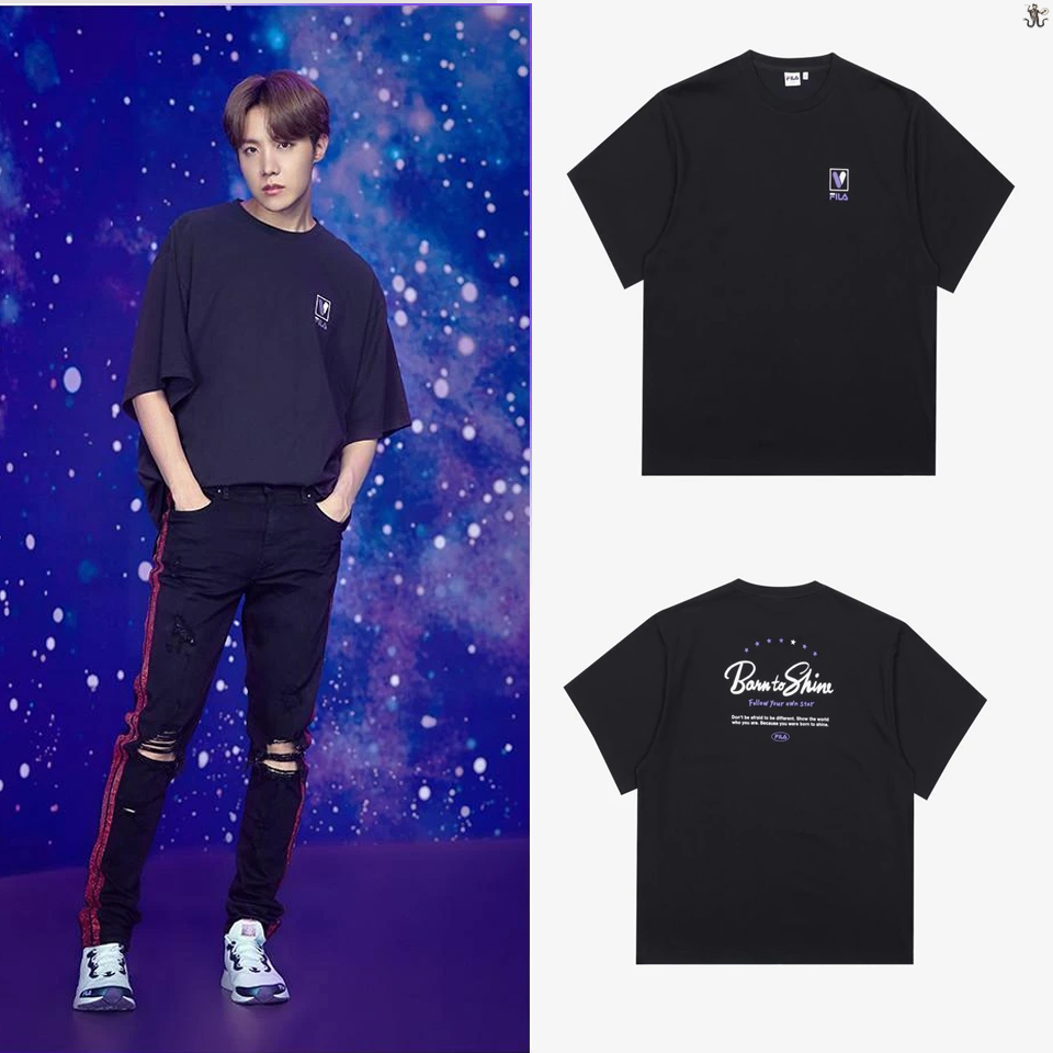 [FILA X BTS] Loose Fit Lettering Tee