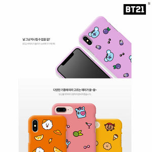 [LINE X BT21] Soft Jelly Case Summer Dolce Pattern Series
