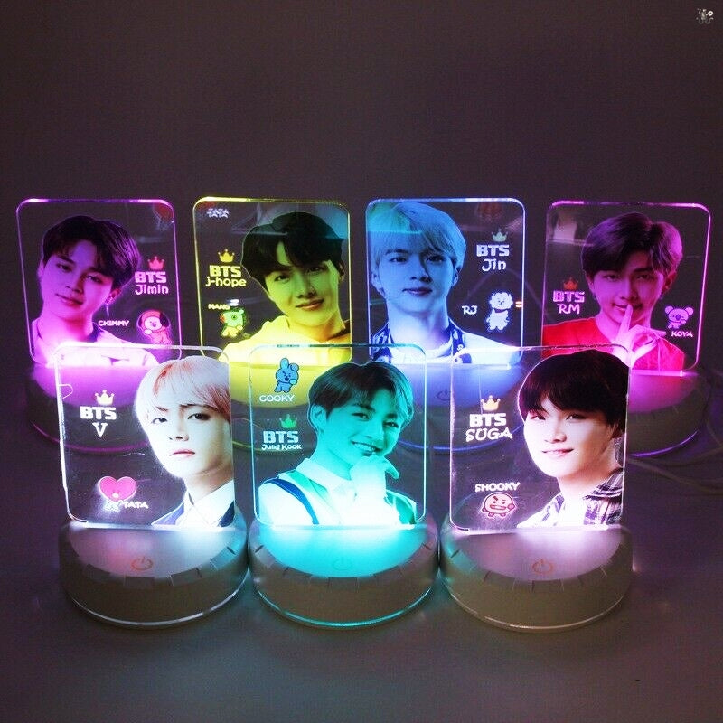 BTS Mood Light 7 Colors LED Lamp