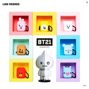 [LINE X BT21] Silicone Charging Case For Apple Airpods Cube Version