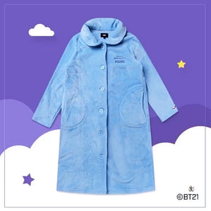 [LINE X BT21] Winter Flannel Night Dress. (Free Shipping)
