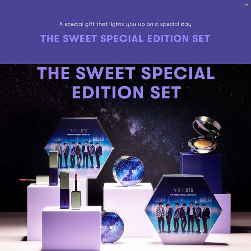 [VT COSMETICS X BTS] The Sweet Special Edition Set (Cushion + 2 Lip Fluid)