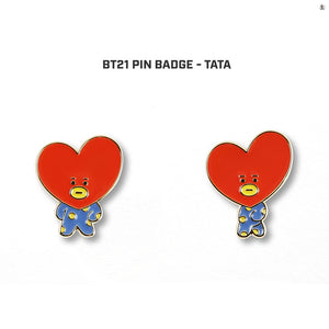 [LINE X BT21] Metal Badge Set (2ea)