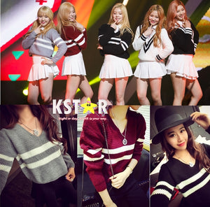 Red Velvet's Style Sweater and Skirt