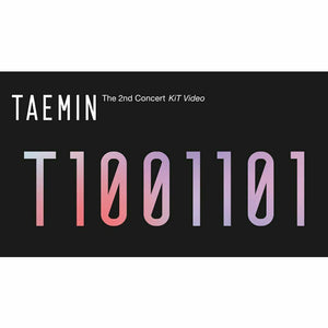 SHINee TAEMIN T1001101 2nd CONCERT KIT (Video+Photobook)