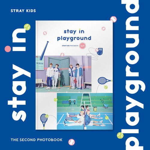[JYP] STRAY KIDS - 2nd PHOTOBOOK:  stay in playground (Free Express Shipping)