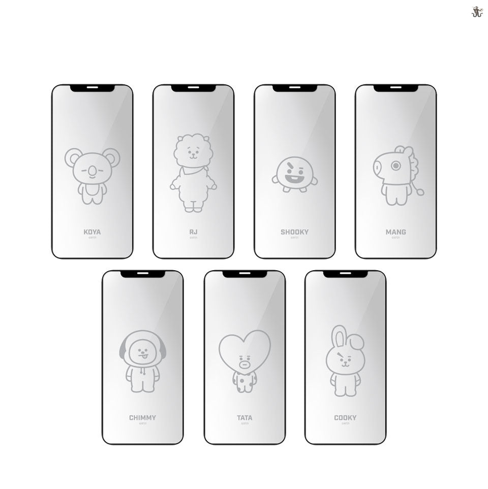[LINE X BT21] Tempered Glass for iPhone