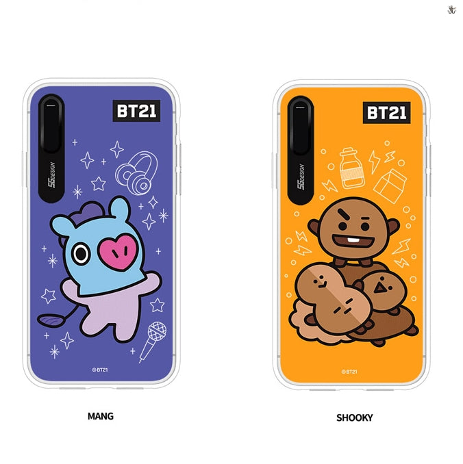 timeless design b383a f1cba LINE X BT21] Graphic Light Up Case (Hybrid) For iPhone (Free ...