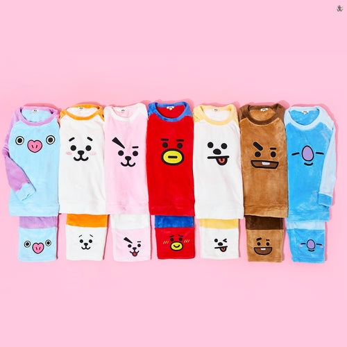 [LINE X BT21] Winter Fleece Pajamas Set (Free Shipping)