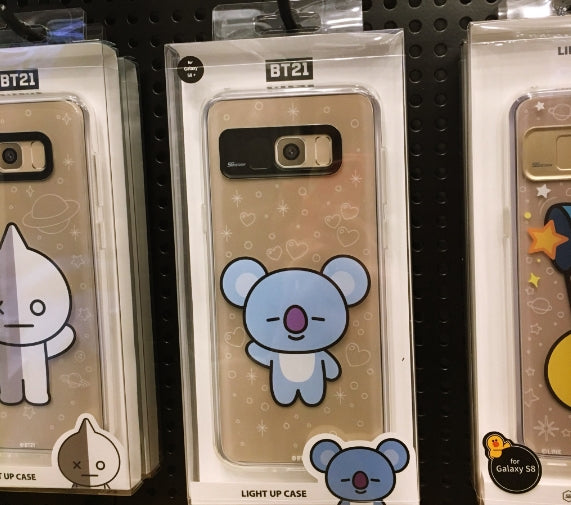 newest 98956 3c9d3 [LINE X BT21] Clear Light Up Case (Soft) For iPhone & Galaxy (Free Shipping)