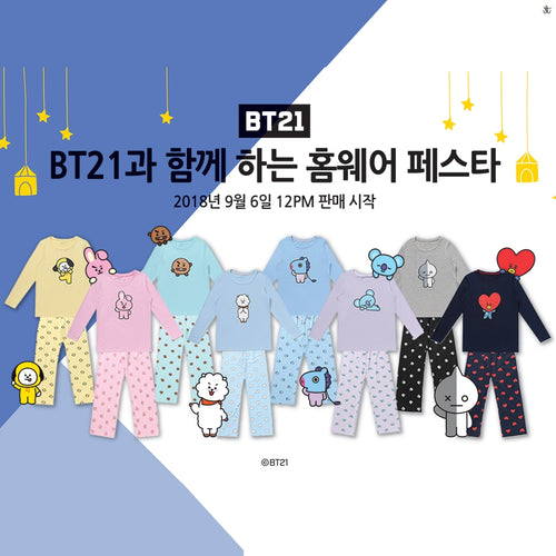 [LINE X BT21] Teejama Set (Free Shipping)