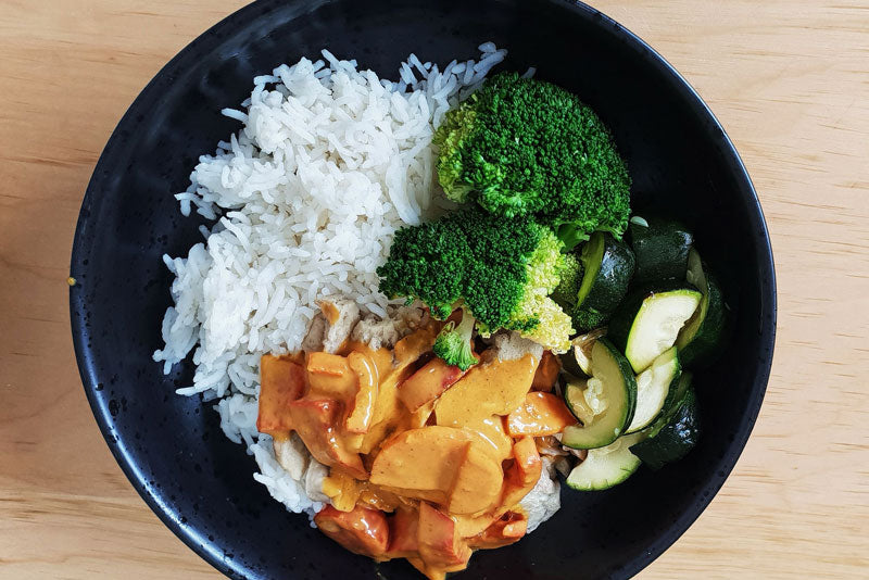 "Thai Yellow Curry Vegan ""Chicken"""
