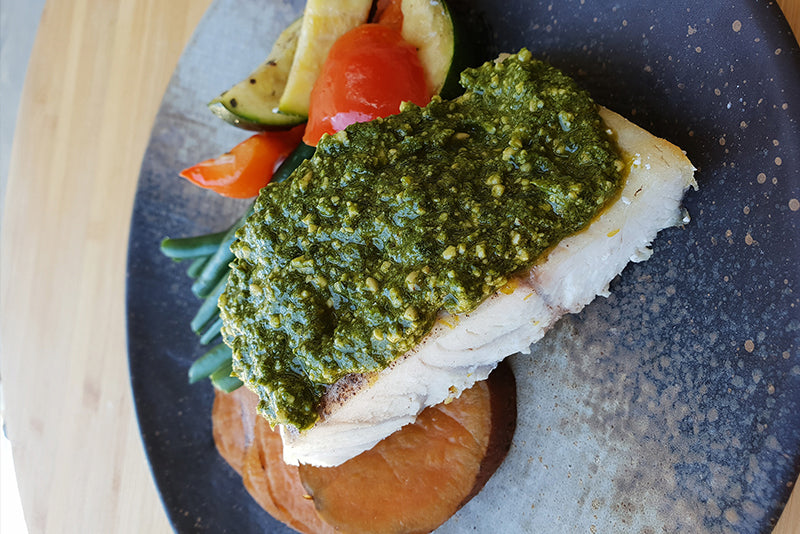 Pesto Barramundi