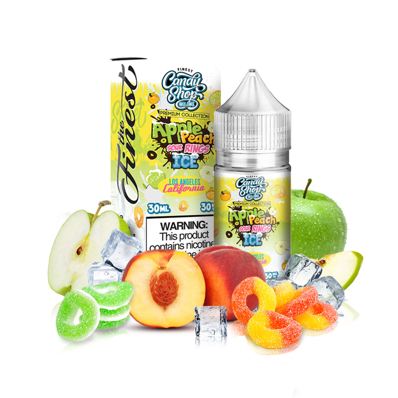 Apple Peach Sour Ring on Ice - Saltnic (Not for Sale in USA)