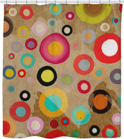 Ruth Fitta Schulz  -  Abstract Circles Rustic and Modern Home decor