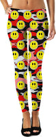 Yellow Smiley Black & Red Camo Leggings