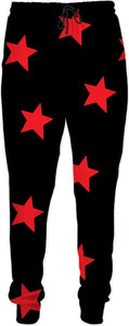 Big Red Stars Black Joggers