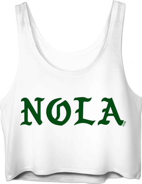 NOLA Green Gothic Crop Top