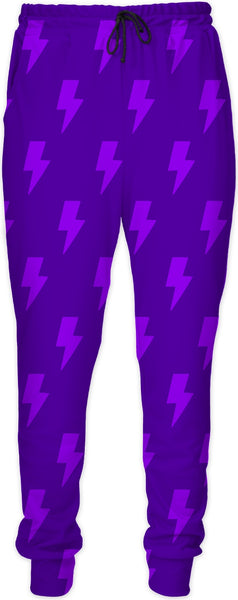 Light Purple Lightning Bolts Joggers