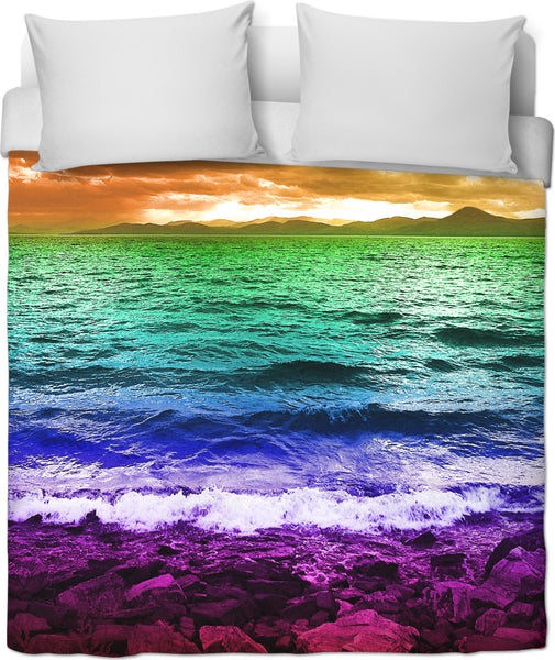 Rainbow Sea Duvet Cover