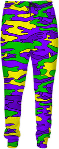 """Mardi Gras Colored Camo"" Joggers"