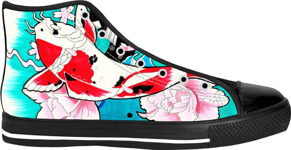 Koi Fish Black High Tops