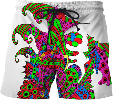 Alien 57 Blue Red Green Pink Blue & Orange Swim Shorts