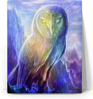Crystalline Owl Canvas
