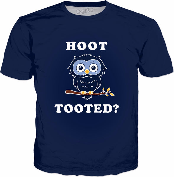 Hoot Tooted? T-Shirt - Owl Fart Joke