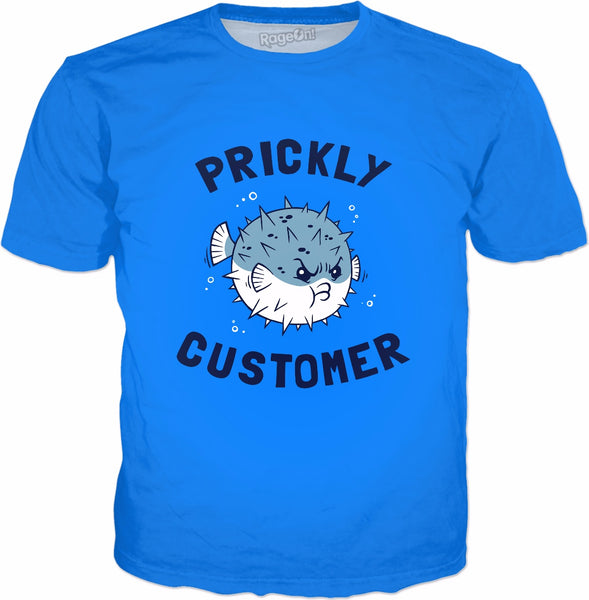 Prickly Customer T-Shirt - Puffer Fish Porcupine
