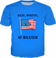 Red White And Blues T-Shirt - Sad American Flag Funny