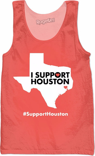 I Support Houston Peach Tank Top