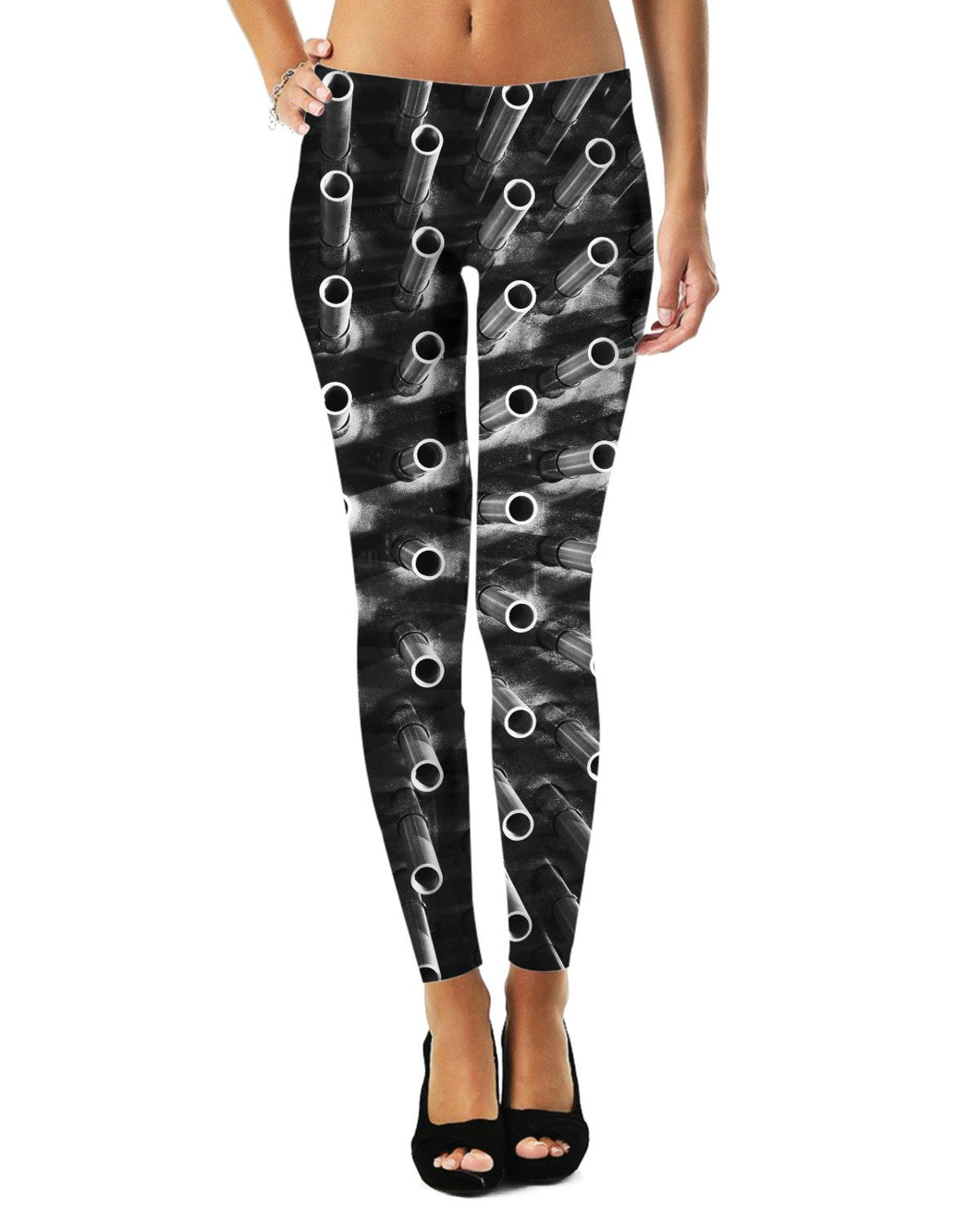 Abstract Pipes Leggings