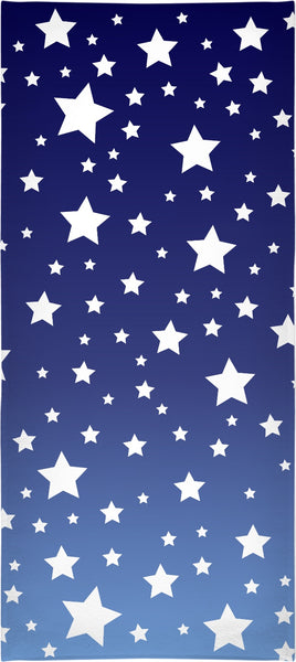 White Stars Blue Ombre Towel