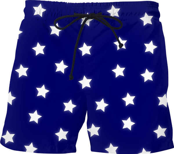 Stars - Navy Swim Shorts