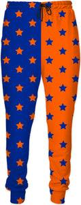 Orange & Blue Split Stars Joggers
