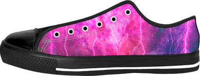 Blue And Pink Prophecy Black Low Tops