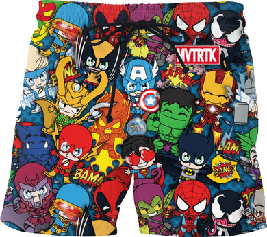 MVTRTK SUPER HEROES Swim Shorts